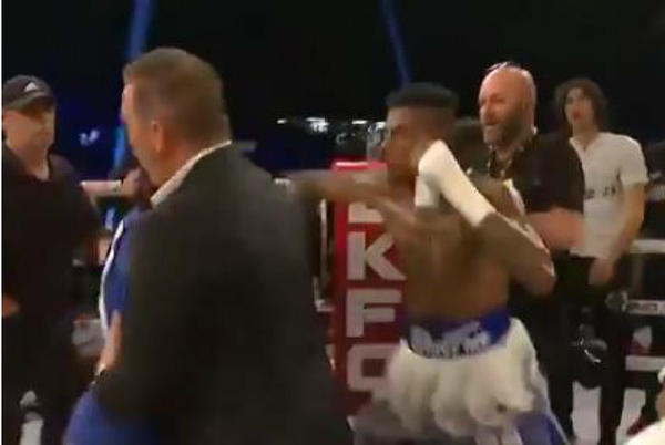 Picture for Blueface Punches Fan Who Rushed Boxing Ring After Blueface Won Match – Watch