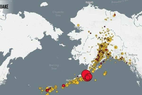 Picture for Major quake hits off the coast of Alaska, triggers tsunami warnings but no large waves
