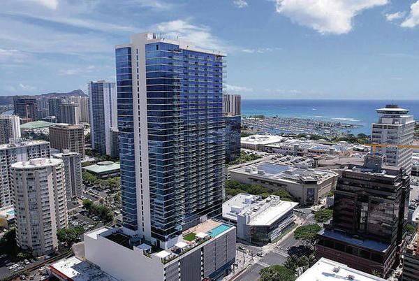 Picture for Nearly sold-out condo, the Azure Ala Moana tower, opens in Honolulu