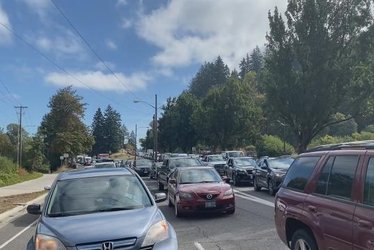 Picture for Traffic was at a standstill on Franklin Boulevard on Thursday