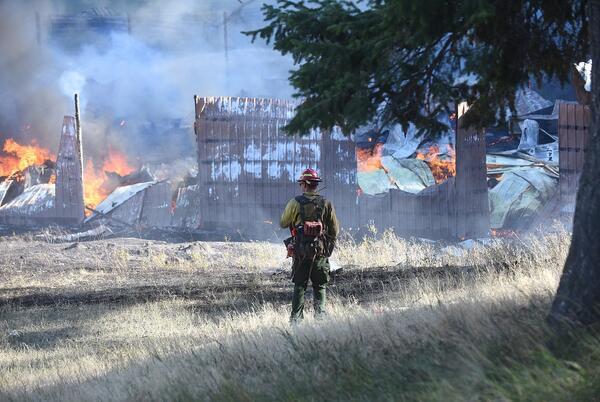 Picture for Fire crews battle Batavia Lane blaze