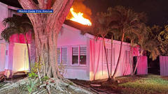 Cover for Large Miami-Dade Fire Rescue Response To Northeast Miami-Dade House Fire