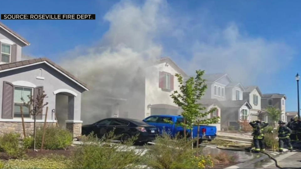 Picture for Garage Fire Spreads To Second Home In Roseville Neighborhood
