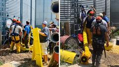 Cover for Man rescued from grain bin in NW Kansas
