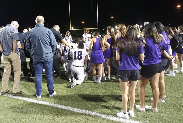 Picture for Mustangs win district opener 42-8