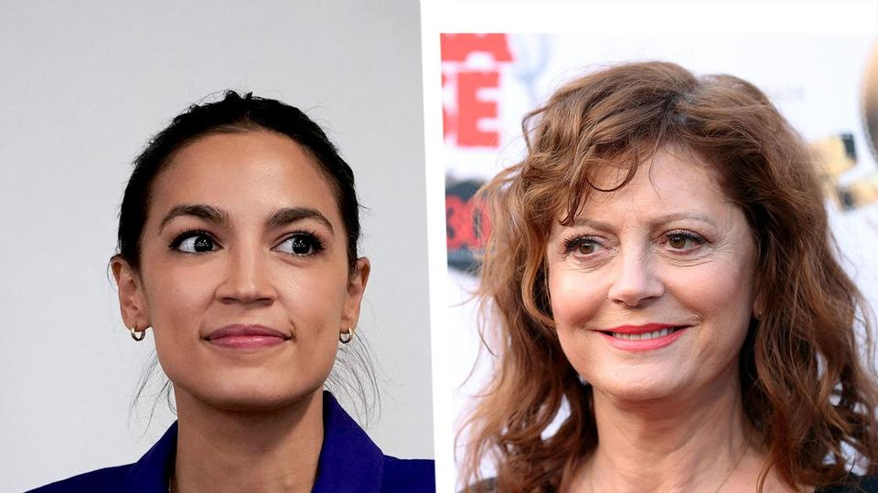 """Picture for Susan Sarandon leads protest against the Squad at AOC's office: """"We're losing hope"""""""