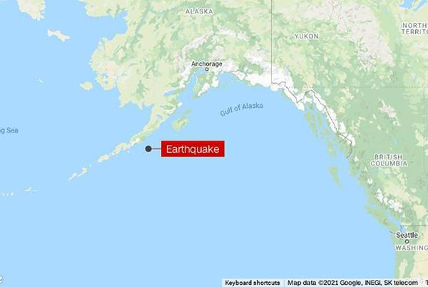 Picture for Tsunami warning in effect for parts of the Alaskan coast after an 8.2 earthquake