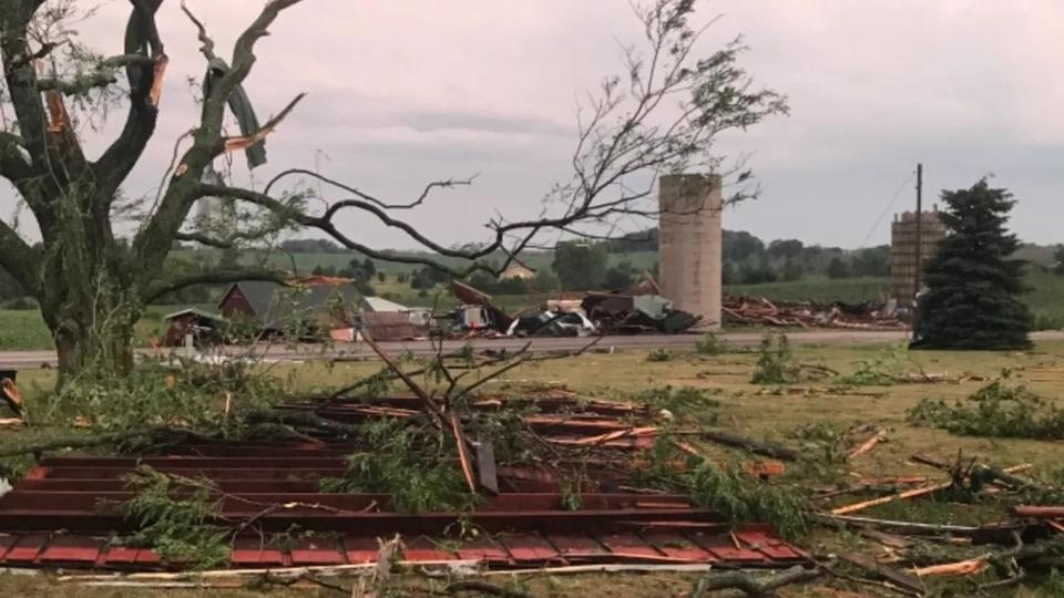 Picture for State of Emergency in Wisconsin as daylight reveals massive storm damage