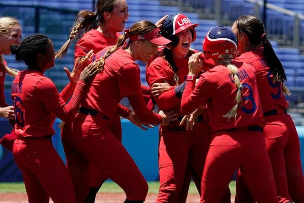 Picture for Team USA softball in Olympics gold medal game after epic walk-off against Australia
