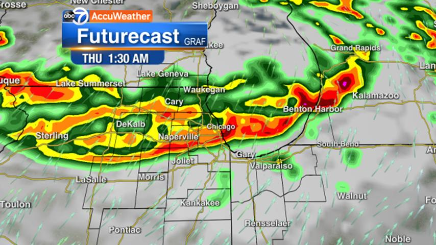 Picture for Chicago Weather: Severe storms possible overnight, with potential for winds over 65 mph