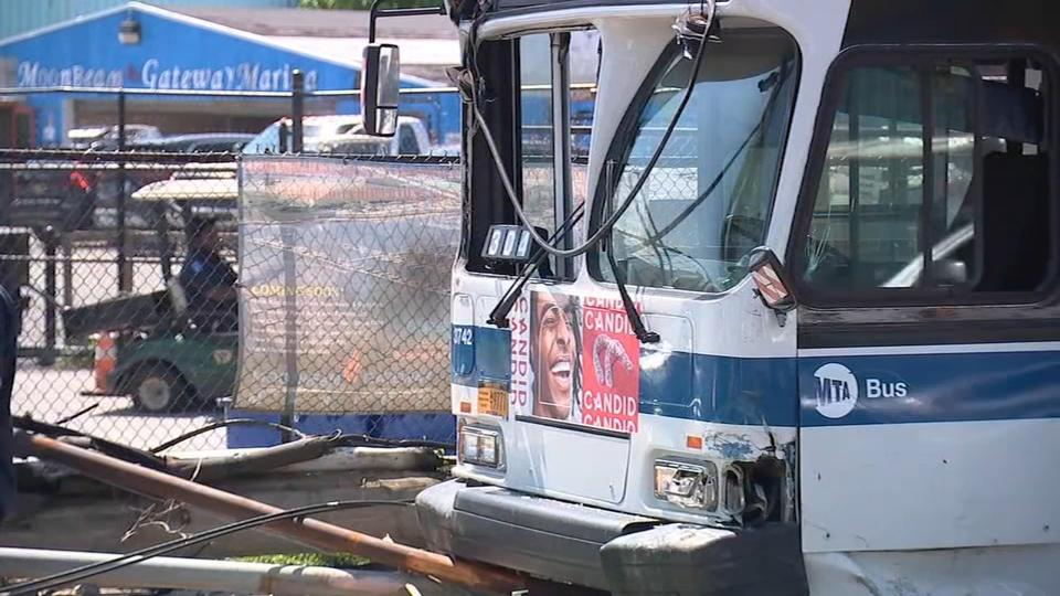 Picture for Several injured after MTA bus crashes into light pole in Brooklyn: Officials