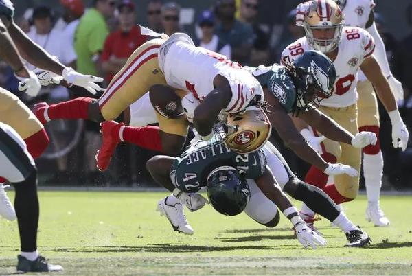 Picture for Derek Barnett's cheap shot and K'Von Wallace's head shot sped the Eagles' loss, then Wallace whined on Insta. Bench them. | Marcus Hayes