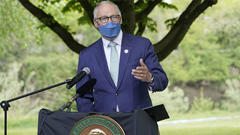 Cover for Gov. Inslee: Washington 'staying the course,' won't rush reopening