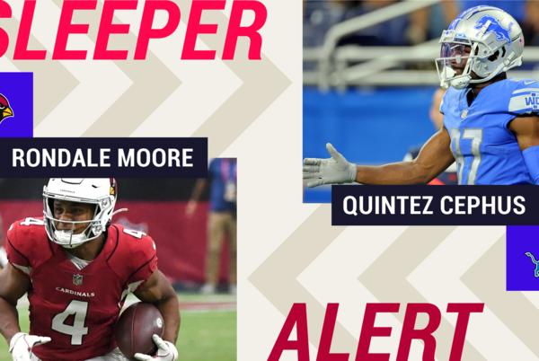 Picture for Week 3 Fantasy Sleepers: Rondale Moore, Quintez Cephus among players on the start 'em, sit 'em bubble