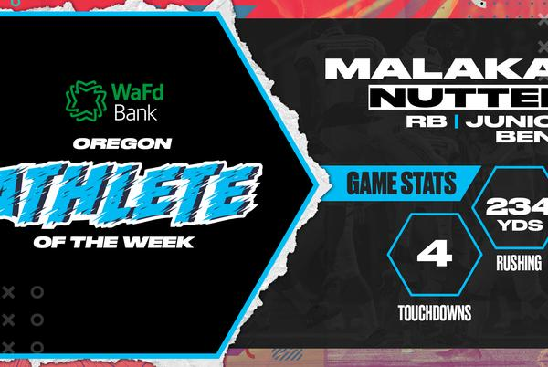 Picture for Bend RB Malakai Nutter voted the WaFd Bank Oregon High School Athlete of the Week