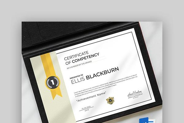Picture for 20+ Best Free Diploma Certificate Templates in Word to Download 2021