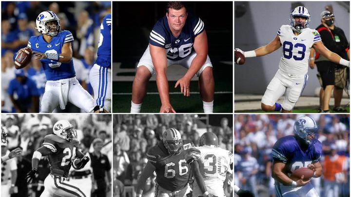 Cover for Leaving a legacy: 17 players on the BYU football team have fathers who also played for Cougars