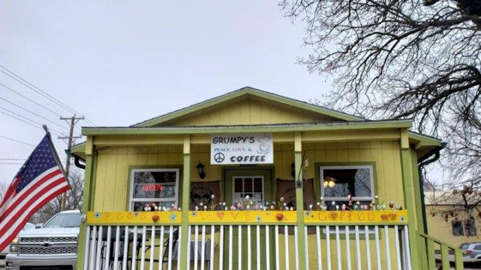 Cover for The Grooviest Place To Dine In Arkansas Is Grumpy's Peace, Love, And Coffee, A Hippie-Themed Restaurant