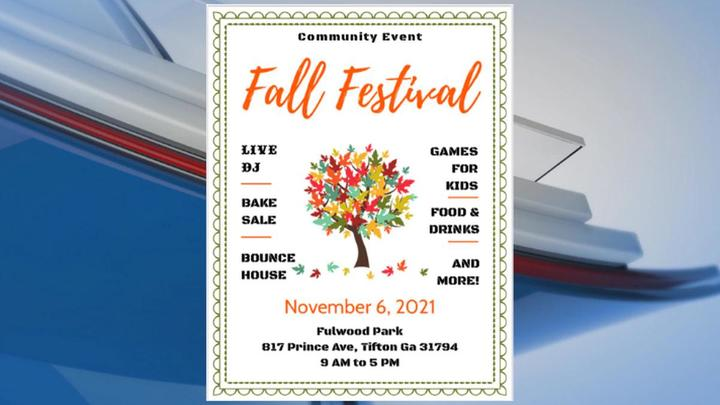 Cover for Fall festival scheduled for Tifton community