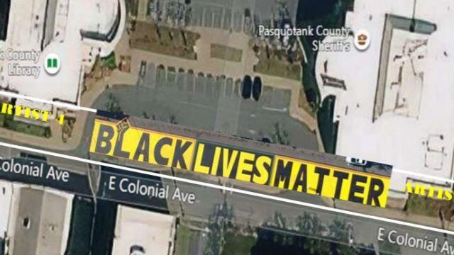 Picture for Voting underway for Elizabeth City Black Lives Matter mural