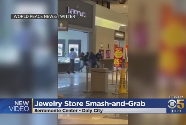 Picture for VIDEO: Smash-and-Grab Thieves Steal Jewelry At Serramonte Center In Daly City
