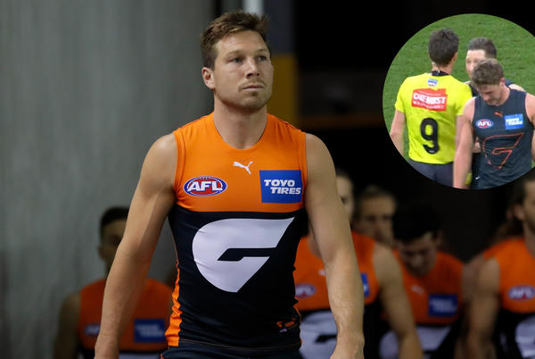 Picture for Toby Greene ordered to AFL tribunal over alleged umpire bump