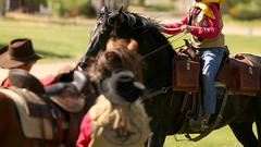 Cover for Pony Express Re-Ride about to cross out of Wyoming and bring mail into Nebraska