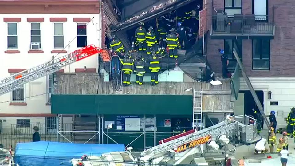 Picture for 2 workers rescued from construction site collapse in Brooklyn