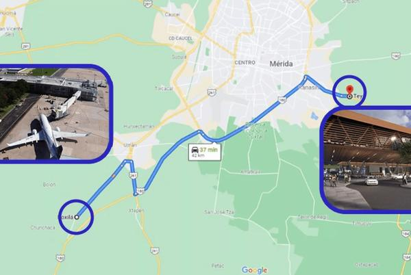 Picture for Mayan train station and new Merida airport would be connected