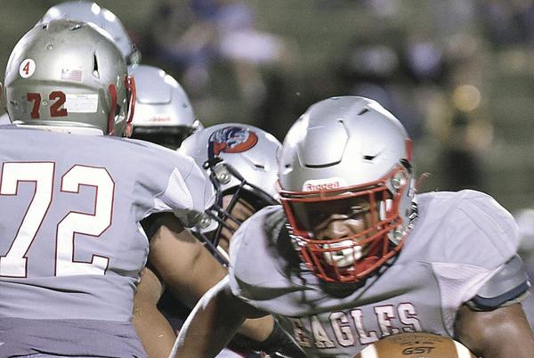Picture for Lee, Eagles rush to first win of fall campaign, 48-19