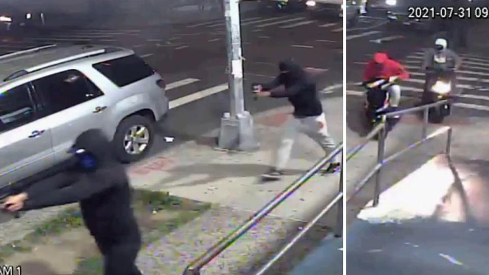 Picture for Search for gunmen who rode off on mopeds after 10 shot in Queens continues