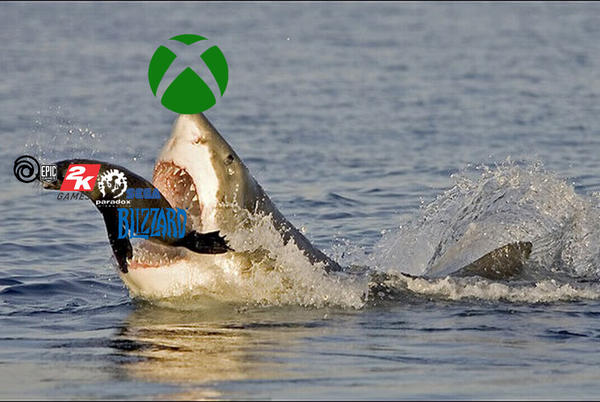 Picture for Oh snap! Who is Microsoft buying now? Valve? 2K? Sega? Sony??