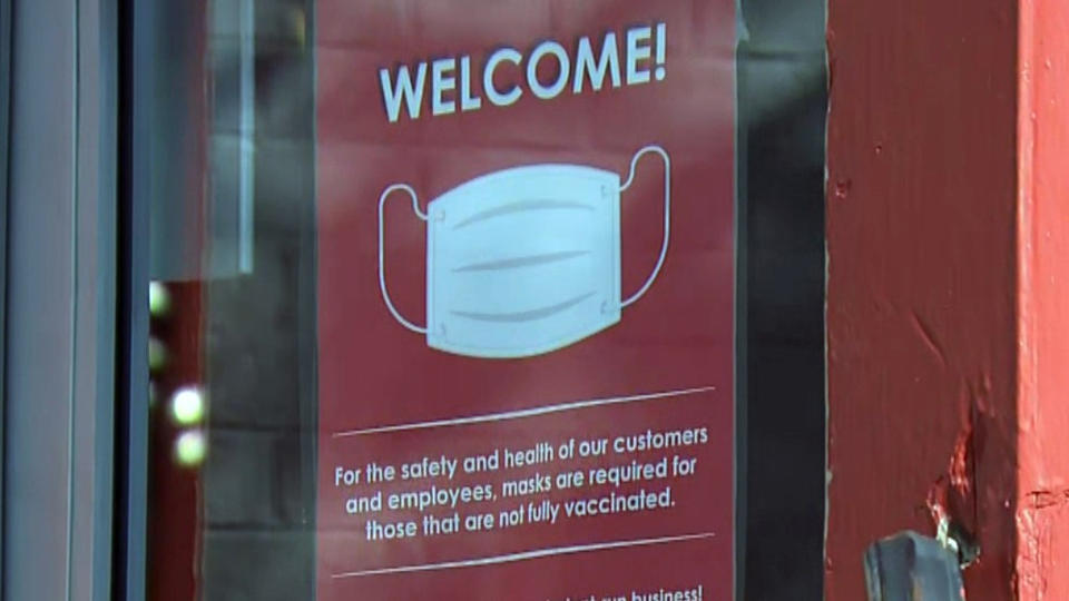 Picture for 'Masks And Vax Required': Some Mass. Businesses Taking COVID Precautions Into Own Hands