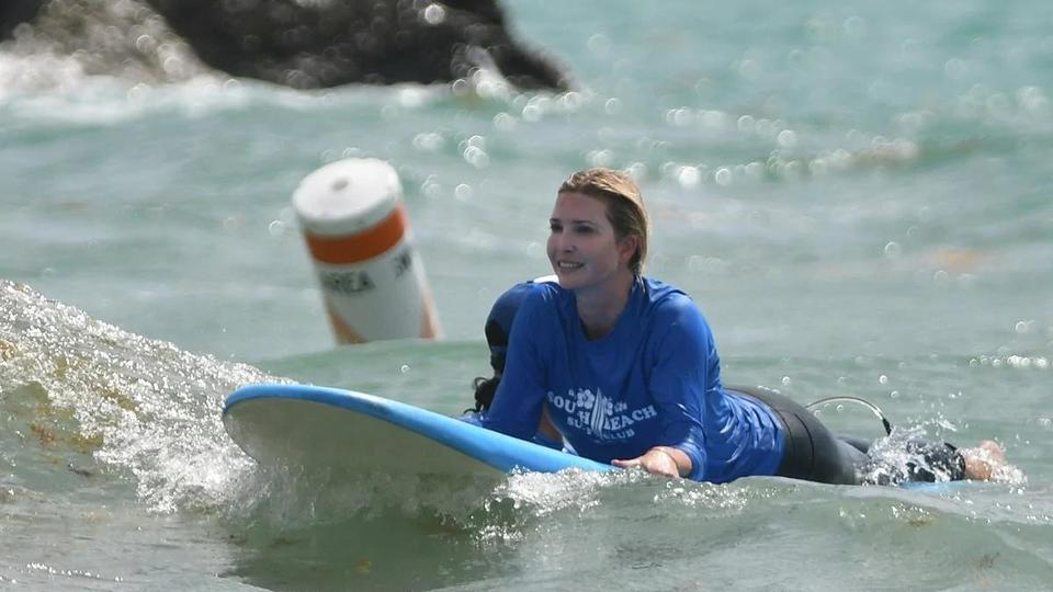 Picture for Surf's up! Ivanka Trump hits the waves in Miami with her kids