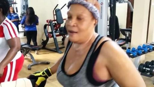 55 Year Old Nollywood actress, Ngozi Nwosu Hits the Gym to Keep ...