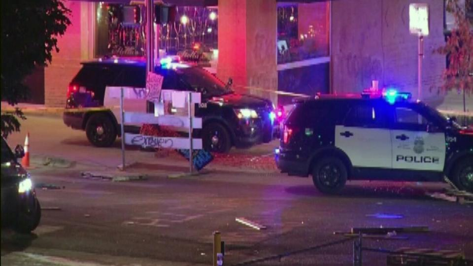 Picture for 1 dead, 1 injured after car plows into protesters in Minneapolis, police say