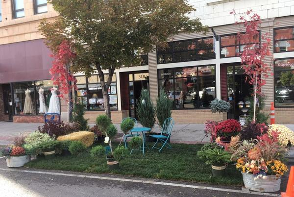 Picture for 8th annual PARKing day turns parking space downtown into mini-park