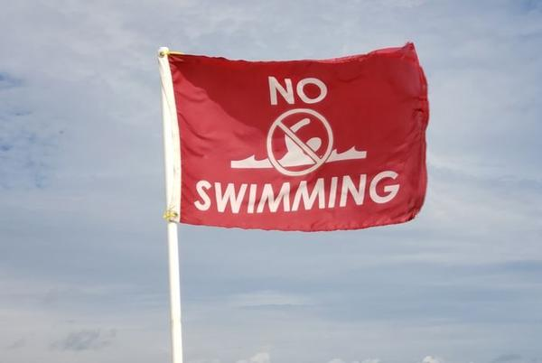 Picture for Red flags posted in Nags Head beach due to high rip current risk