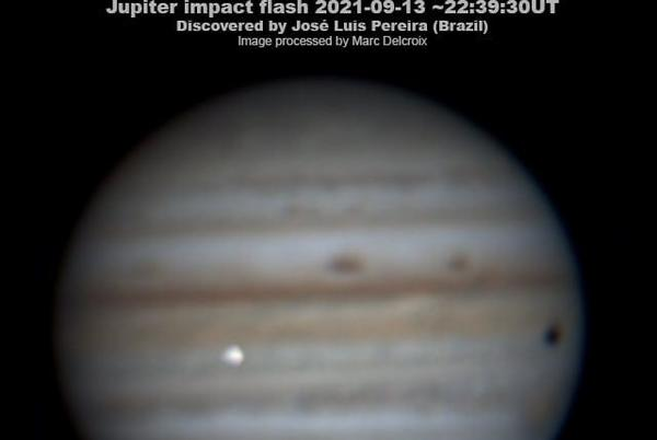 Picture for 'Moment of great emotion': Jupiter explosion captured on video by astrophotographer in Brazil