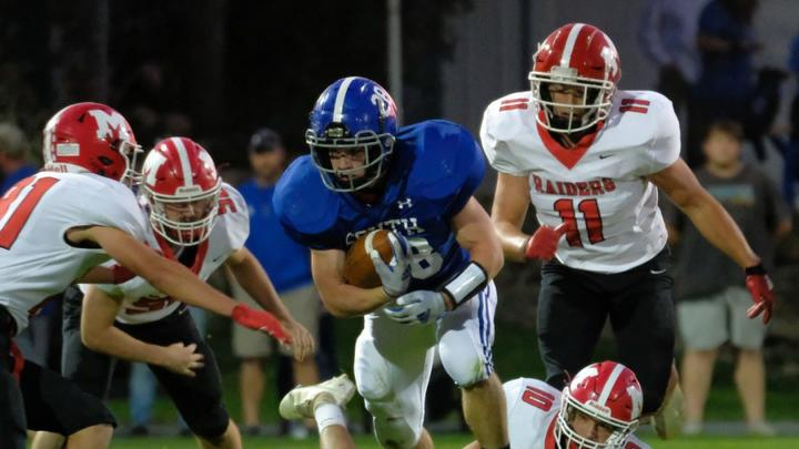 Cover for Lusk helps South Williamsport beat Montgomery in rare Monday night football game