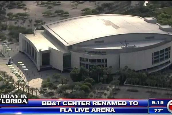Picture for BB&T Center to be named FLA Live Arena temporarily