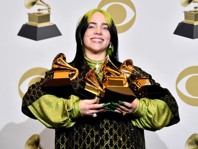 Billie Eilish Feels Like She S In A Movie Thanks To Historic Grammy Night News Break