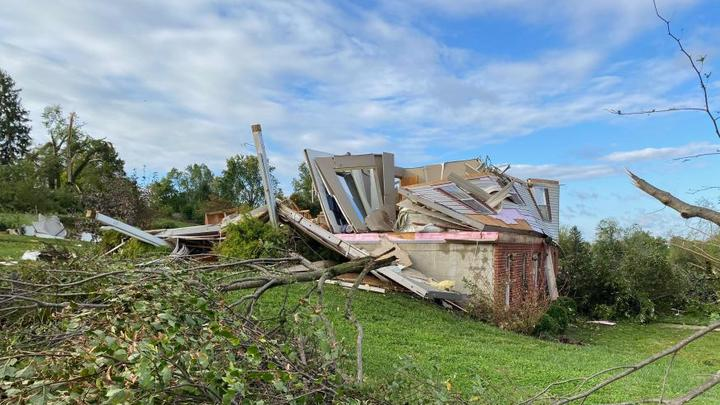 Cover for Tornado tears through towns in southwest Ohio