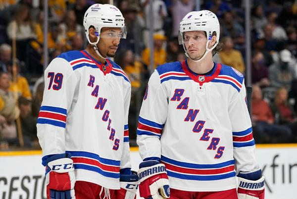 Picture for NY Rangers projected lineup: K'Andre Miller and Jacob Trouba forming lockdown pair