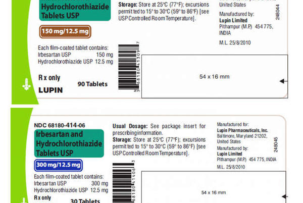 Picture for Blood pressure medications on recall list