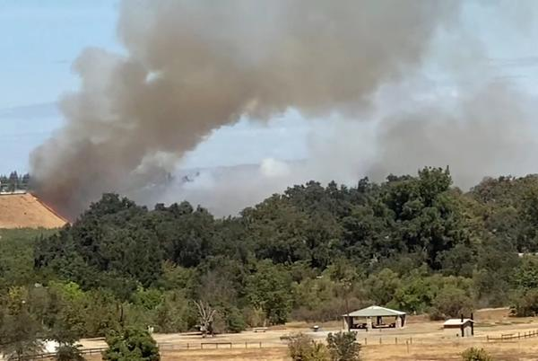 Picture for Brush fire burns 42 acres near Fresno's Woodward Park
