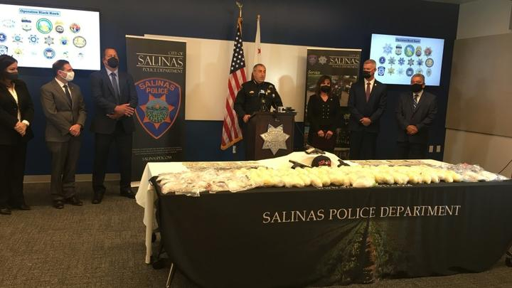 Cover for $1.8 million in drugs seized in multi-agency drug trafficking operation