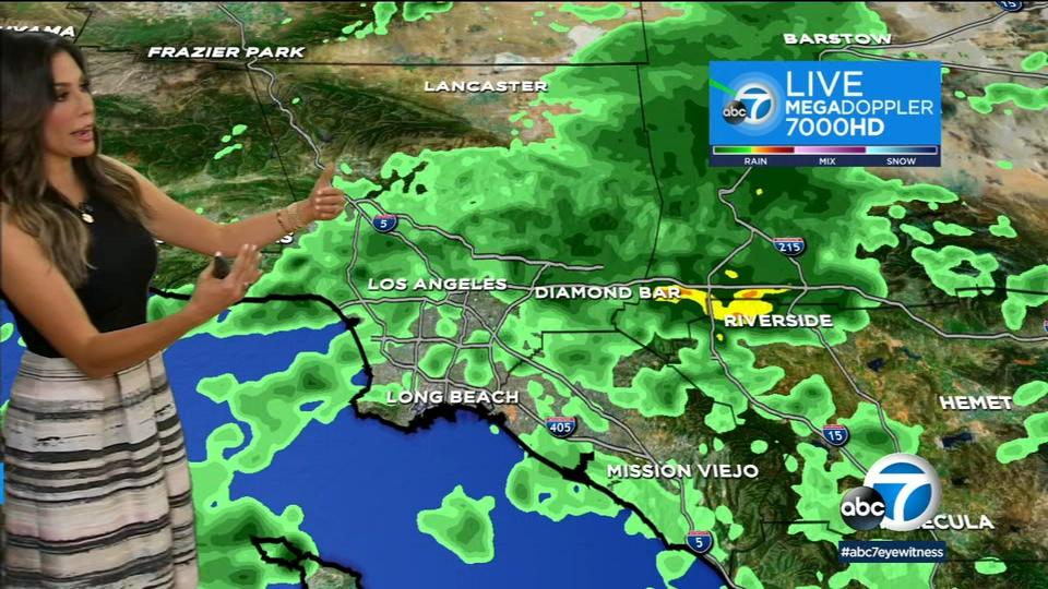 Picture for SoCal weather: Rain triggers flash flood warnings across SoCal, thunderstorms hitting the IE Monday