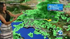 Cover for SoCal weather: Rain triggers flash flood warnings across SoCal, thunderstorms hitting the IE Monday