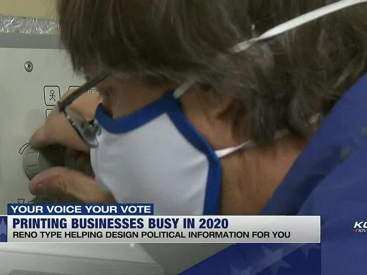 Reno Type Staying Busy During Election Year News Break
